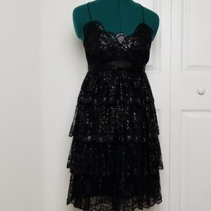 Express shimmer lace party dress size 2